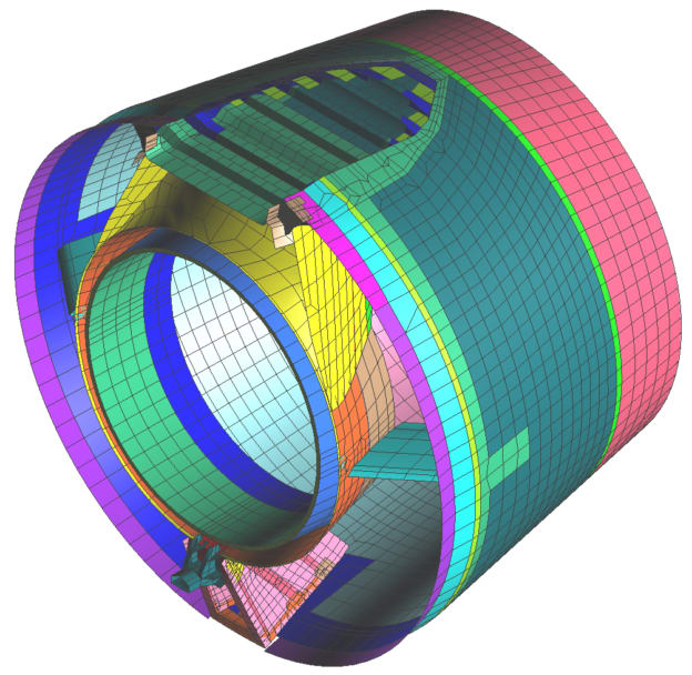 Multidisciplinary structural analysis—nonlinear static analysis—nacelle exhaust nozzle.(Image courtesy of MSC Software.)