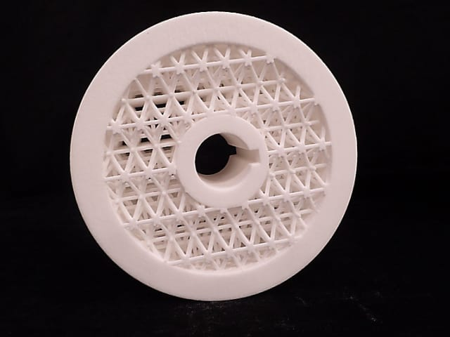A sprocket designed for 3D printing. (Image courtesy of Caterpillar.)