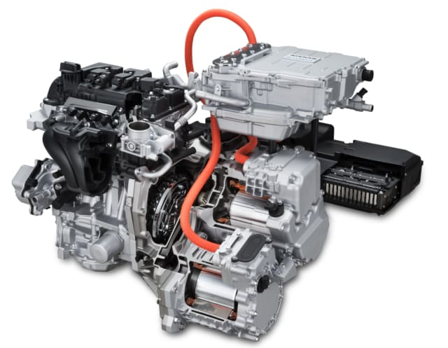 A Nissan e-POWER electric motor system. (Image courtesy of Nissan.)