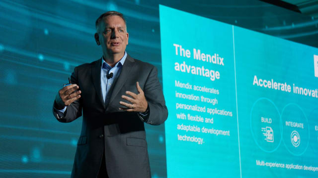 Tony Hemmelgarn, CEOof the newly named Siemens Digital Industries Software at the Siemens Media and Analyst Conference(SMAC) 2019 in New York City. (Image courtesy of Siemens Software.)