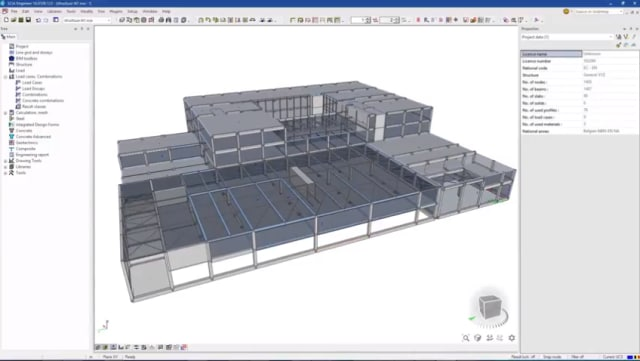 Screenshot of SCIA Engineer. (Image courtesy of SCIA.)