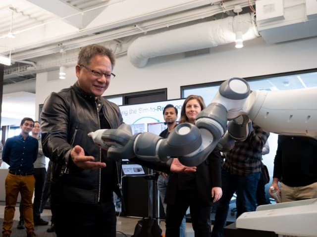 NVIDIA CEO Jensen Huang attends the opening of the new Seattle lab. (Image courtesy of NVIDIA.)