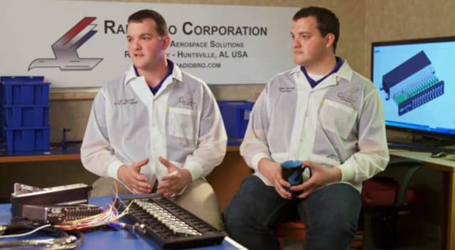 Eric (left) and Mark (right) Becnel of RadioBro Corporation. (Image courtesy of Siemens.)
