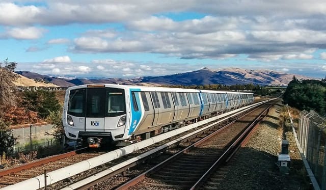 Bay Area Rapid Transit (BART), which connects the San Francisco Peninsula with Oakland, Berkeley, Fremont, San Jose, Walnut Creek, Dublin/Pleasanton and other cities in the East Bay, is set for a $798 million upgrade with the latest communications-based train control systems from Hitachi Rail STS. (Image courtesy of BART.)