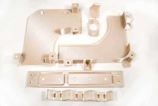 3D-printed bracketing for the A350 aircraft made from ULTEM using FDM. (Image courtesy of Stratasys.)