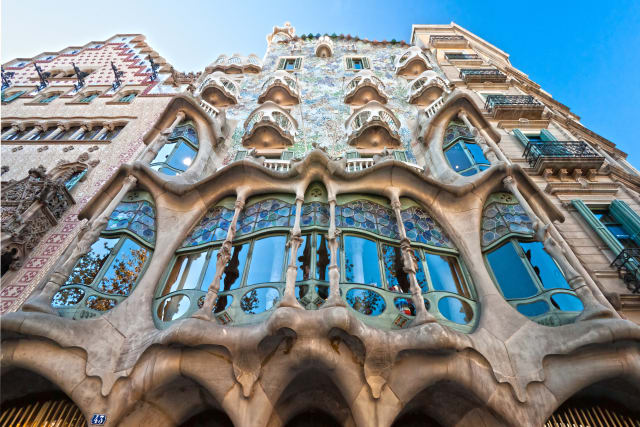 Antoni Gaudi's buildings, like the Casa Batllo pictured here, look like extravagant sculptures rather than practical architecture. But, much like items produced by generative design today, their grounding in organic forms makes them strong. (Image courtesy of TimeOut Barcelona.)