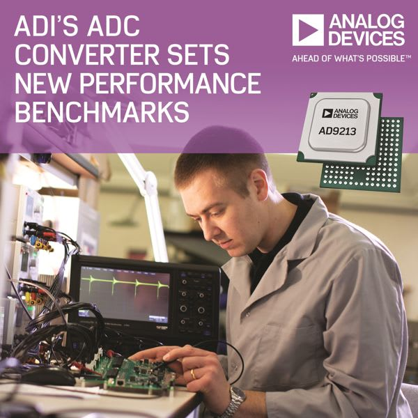 Radio Frequency ADC. (Image courtesy of Analog Devices.)