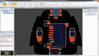 ECAD/MCAD integration in SOLIDWORKS. (Image courtesy of SOLIDWORKS.)