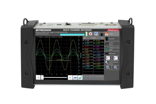 DAS240-BAT Portable Multi-Channel Recorder. (Image courtesy of B&K Precision.)