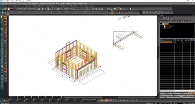 Screenshot of TurboCAD Pro Platinum 2018. (Image courtesy of IMSI Design.)