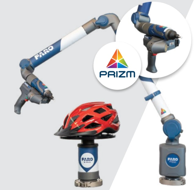 The FARO 8-Axis Design ScanArm 2.5C with FARO Prizm Laser Line Probe. (Image courtesy of FARO.)