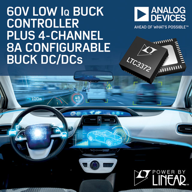 LTC3372 buck controller. (Image courtesy of Analog Devices.)
