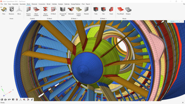 Altair'sflagship product, HyperWorks, updates its interface. (Image courtesy of Altair.)