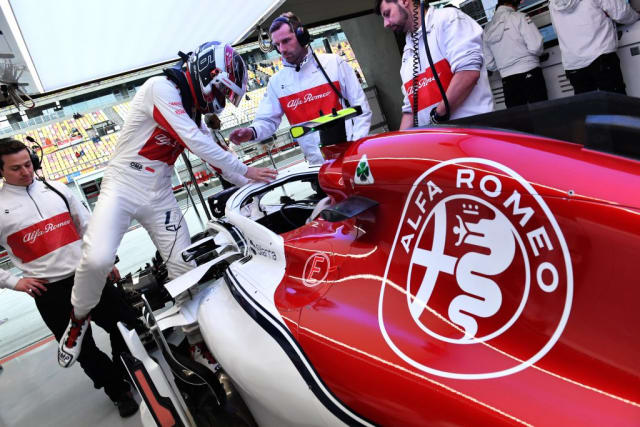 Alfa Romeo Sauber F1 Team's race car, integrated parts created with the help of 3D Systems SLA and SLS 3D printing solutions. (Image courtesy of 3D Systems.)