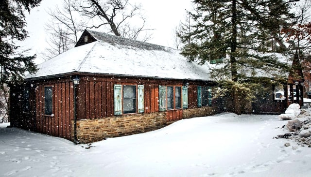 Toboggan Lodge, a building on the campus of Cornell University where researchers tested a new approach to heating and cooling houses. (Image courtesy of Jason Koski/Cornell University.)