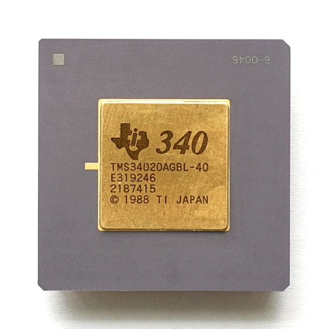 The TMS34010, which was released in 1986, was among the first microprocessors designed to process offloaded graphics rendering separately from the CPU.
