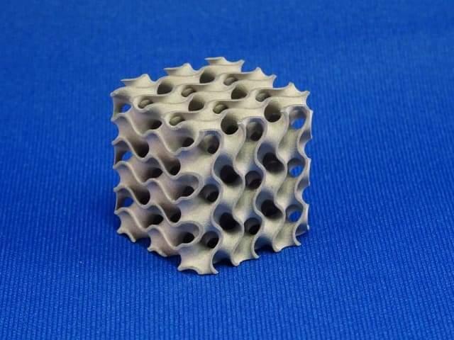 A metal 3D-printed part made with Admatec's ADMETALFLEX 3D printer. (Image courtesy of Admatec.)