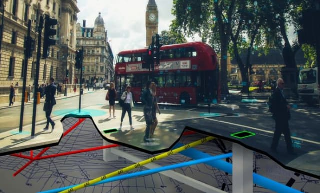Vehicles with Intel Mobileye 8 Connect will provide geospatial information in the UK. (Image courtesy of Ordnance Survey.)