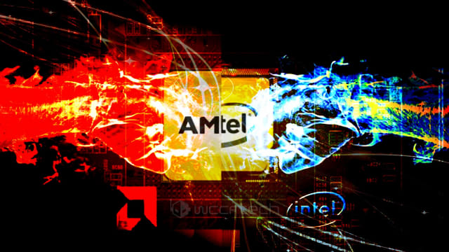 The clash between AMD and Intel for control of the semiconductor market should only continue to intensify. (Image courtesy of Wccf tech.)