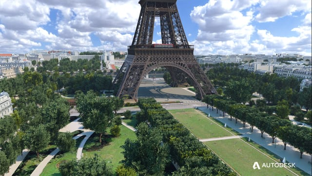 In time for the 2024 Summer Olympics, Paris plans to change the way people experience the Eiffel Tower. (Image courtesy of Autodesk.)