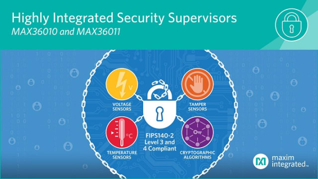 MAX36010 and MAX36011 security supervisors. (Image courtesy of Maxim.)