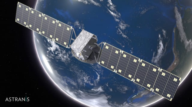 Putting smaller, cheaper satellites into geostationary orbit the plan for Astranis. (Image courtesy of Astranis.)