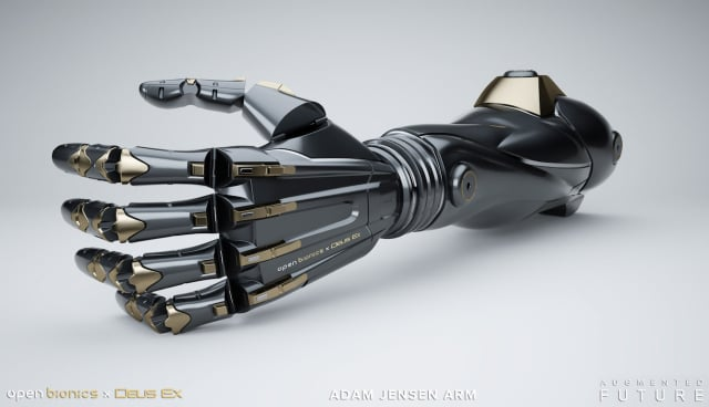 Deus Ex-inspired prosthesis. (Image courtesy of Open Bionics.)