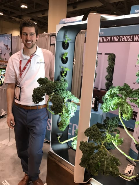 Living room furniture can sprout plants. That's a good thing for those seeking greens closer to home, says Conner Tidd, of Just Vertical.