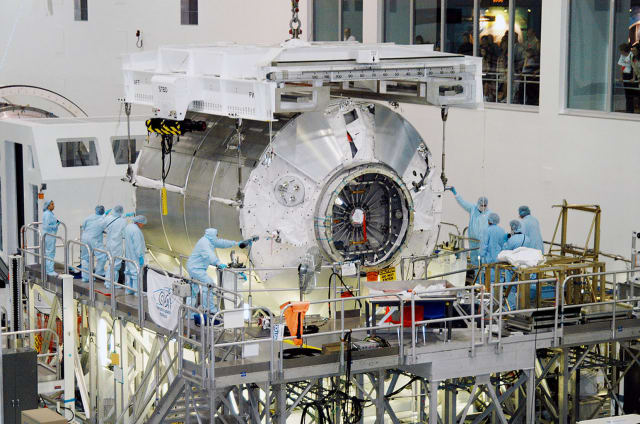 Lockheed Martin recently received a NASA contract to redesign the Donatello Multi-Purpose Logistics Module as seen here at the Space Station Processing Facility at NASA's Kennedy Space Center in 2004. Donatello has never been deployed on cargo runs to the International Space Station (ISS). (Image courtesy of NASA.)