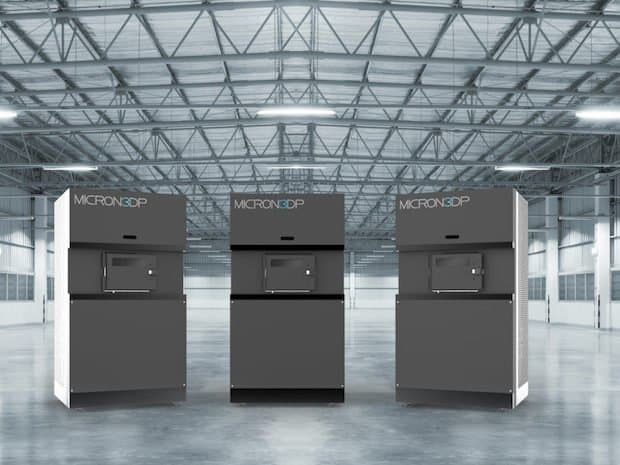 A rendering of Micron3DP's 3D printer. (Image courtesy of Micron3DP.)