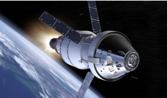 NASA's Orion spacecraft features advanced composite materials. A new nano-barrier could increase the use of composites, which are more lightweight and heat resistant than other materials, for future spacecraft. (Image courtesy of NASA.)