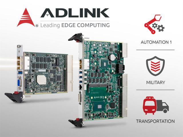CompactPCI processor blades. (Image courtesy of ADLINK.)