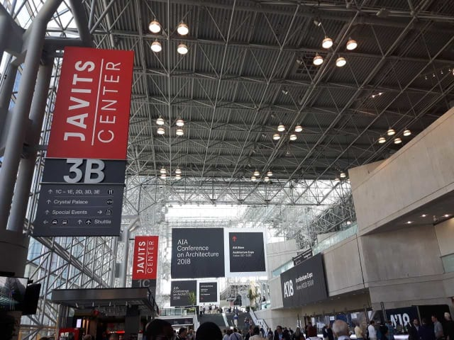 A'18, which took place at New York's Javits Center, focussed heavily on global climate change and carbon reduction. (Image courtesy of author.)