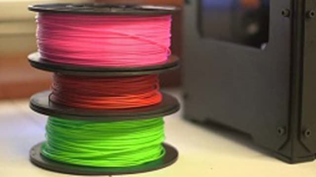 Filament type and color for 3D printers can affect emissions. (Image courtesy of UL.)