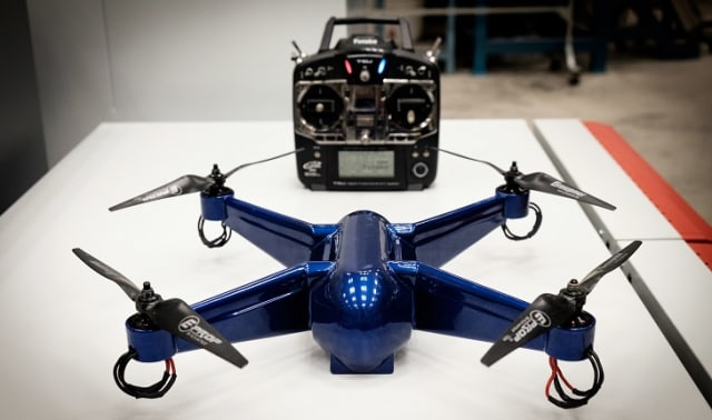 Digimat 2018.0 now includes ULTEM simulation capabilities. This drone is made from ULTEM.  (Image courtesy of Phillip Keane/Nanyang Technological University.)