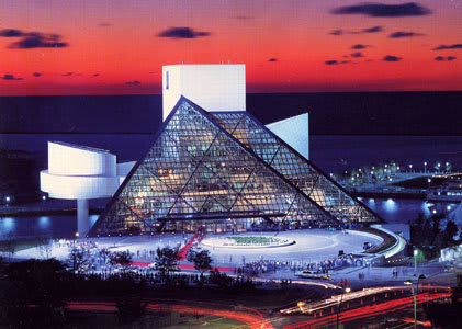 Reason enough to go to Cleveland: The Rock and Roll Hall of Fame, designed by I.M. Pei, is the site of an evening event during CAASE18.