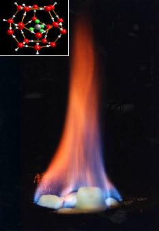 Methane hydrates, or clathrates,