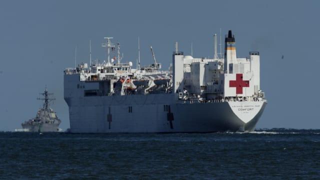 USNS Comfort—the U.S. Navy hospital ship.