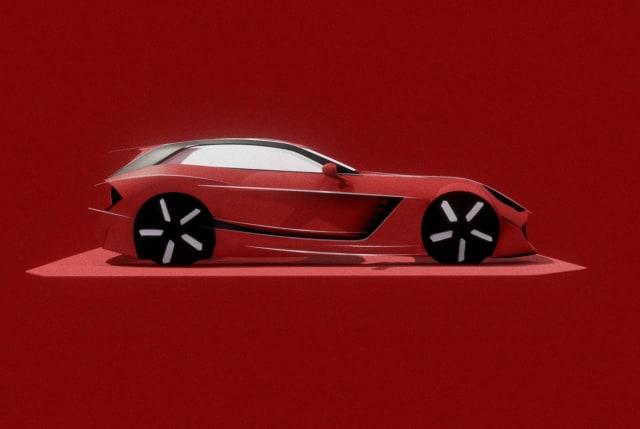 VR designed car model. (Image courtesy of Gravity Sketch.)