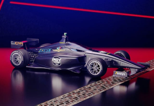 A rendering of a modified Dallara-IL 15 that will be used in the challenge. (Image courtesy of Ansys.)