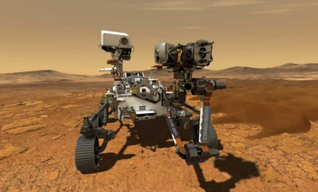 NASA's Perseverance Mars rover is powered by plutonium. (Image courtesy of NASA.)