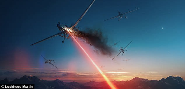 Laser weapons systems are attractive to militaries around the world because they promise intense accuracy and a relatively limitless supply, compared to bullets and missiles. (Image courtesy of Lockheed Martin.)