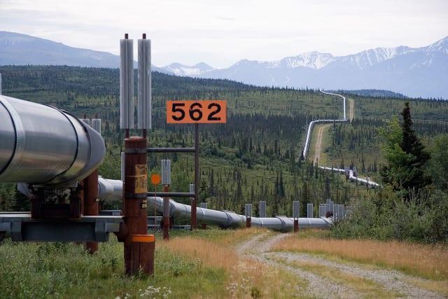The Trans-Alaska Pipeline.