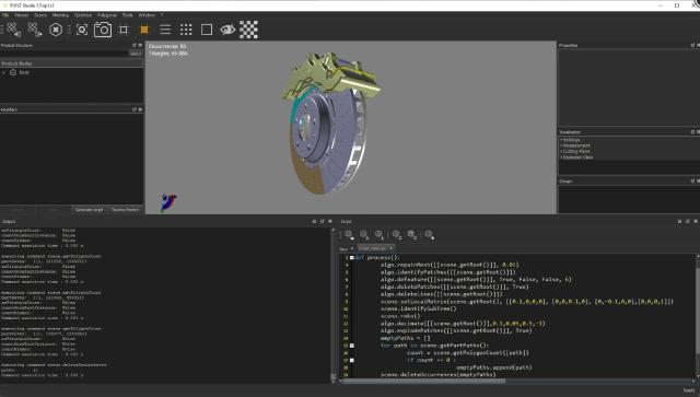 Screenshot of PiXYZ Studio, now included in the Unity Industry Bundle. (Image courtesy of PiXYZ.)