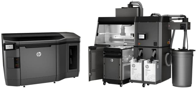 The HP Jet Fusion 4200 3D Printer with powder handling station. (Image courtesy of HP.)