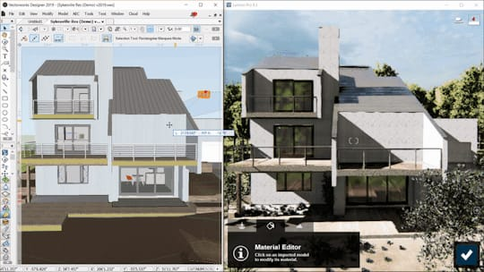 LiveSync is now compatible with Vectorworks. (Image courtesy of Lumion.)