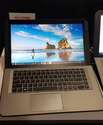 At first glance, the Zbook x2 could be mistaken for a standard one-piece notebook.