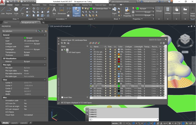 Figure 2. The user interface was scaled and icons were updated in AutoCAD 2017 for 4K displays. (Image courtesy of Autodesk.)