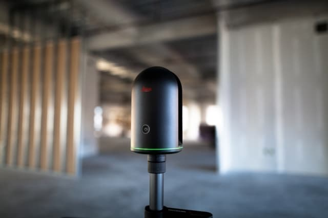 Click here for the full specs of the Leica BLK 360 imaging scanner. (Image courtesy of Leica Geosystems.)