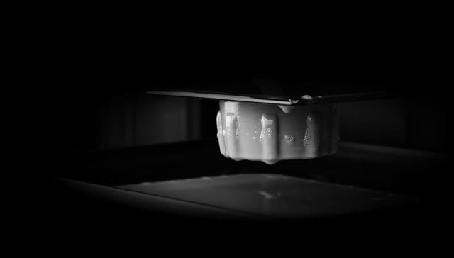 A previously unpublished sneak peek of Origin's unique 3D printing process. (Image courtesy of Origin.)